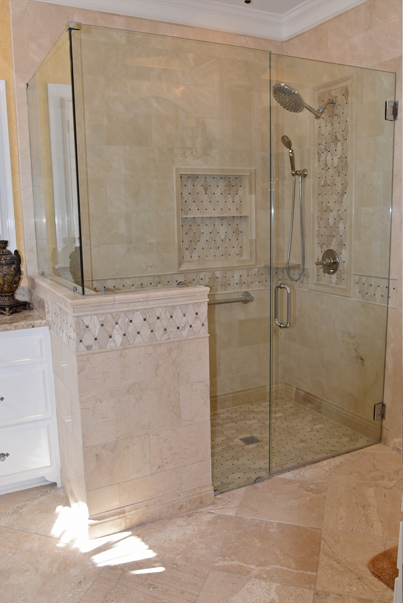 Charmant Frameless Shower Enclosure