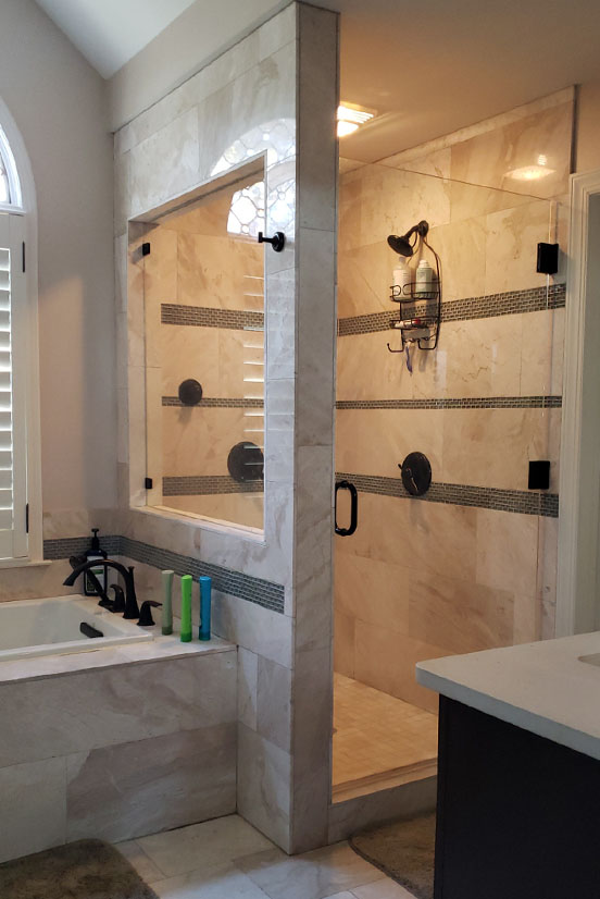 frameless shower door johns creek ga