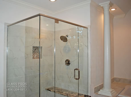 Semi Frameless Shower Enclosures semi frameless glass shower enclosures | framed doors | custom