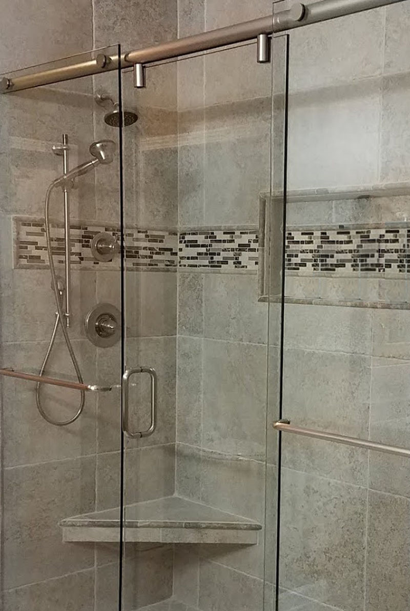 semi frameless shower enclosure johns creek ga